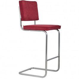 Barová židle ZUIVER RIDGE RIB, červená 1500203 Zuiver