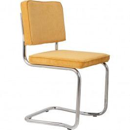 Jídelní židle ZUIVER RIDGE KINK RIB, žlutá 1100064 Zuiver
