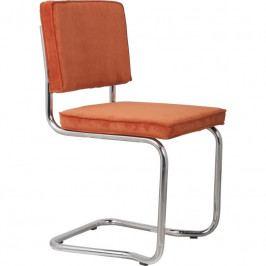 Jídelní židle ZUIVER RIDGE KINK RIB, oranžová 1100057 Zuiver