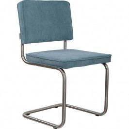 Židle ZUIVER RIDGE RIB, matný rám, modrá 1100084 Zuiver
