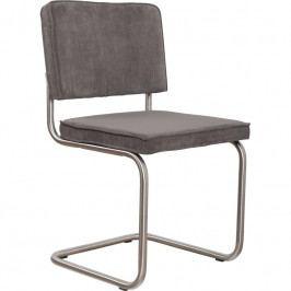 Židle ZUIVER RIDGE RIB, matný rám, šedá 1100082 Zuiver