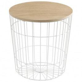 Odkládací stolek Rufus 39 cm, dřevo/kov, bílá SCHDN0000075273 SCANDI