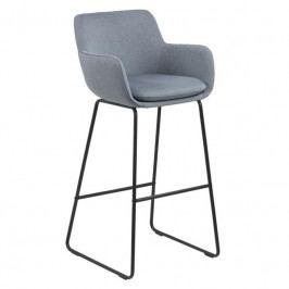 Barová židle Tara, látka, světle modrá SCHDN0000075481 SCANDI