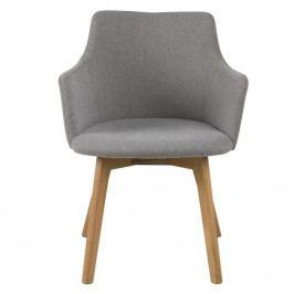 Čalouněná jídelní židle Dara, látka, šedá SCHDN0000075370 SCANDI