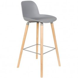 Barová židle ZUIVER ALBERT KUIP, světle šedá S1500059 Zuiver