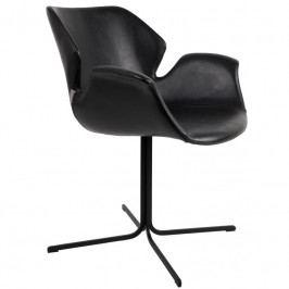 Jídelní židle ZUIVER NIKKI, ekokůže, černá 1200139 Zuiver