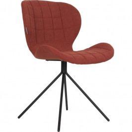 Jídelní židle ZUIVER OMG, látka, oranžová 1100174 Zuiver