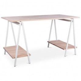 Pracovní stůl Nestor 138 cm, buk/bílá 105497 CULTY