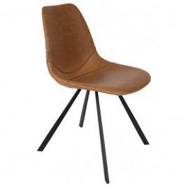 Jídelní židle DUTCHBONE FRANKY, ekokůže, hnědá 1100281 Dutchbone