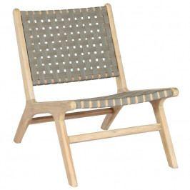 Zahradní židle Mundo, přírodní/zelená dee:375777-O Hoorns