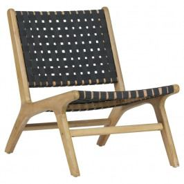 Zahradní židle Mundo, přírodní/tmavě šedá dee:375777-A Hoorns