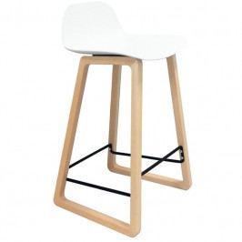 Barová židle Kavala, buk/bílá kh:3628 Culty Gold