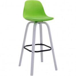 Barová židle Mikael, bílá podnož, zelená | -70 % Scsv:101836534 DMQ+