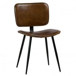 Židle Alorn, pravá kůže, hnědá dee:800760-O Hoorns