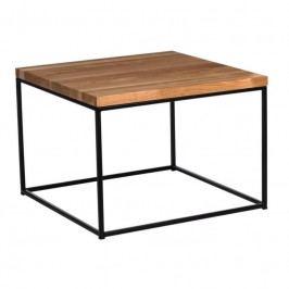Konferenční stolek Crate 45x45, 15 mm, černý kov/třešeň 89175 CULTY