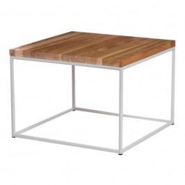 Konferenční stolek Crate 45x45, 15 mm, bílý kov/třešeň 89199 CULTY