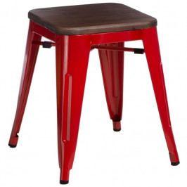 Stolička Tolix 45, červená/ořech 94694 CULTY