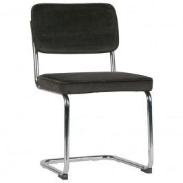 Židle Lando, samet, černá dee:373584-B Hoorns