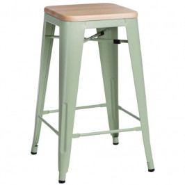 Barová židle Tolix 65, zelená/borovice 96310 CULTY