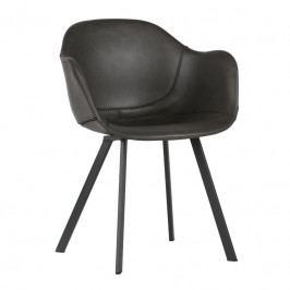 Jídelní židle Crema, tmavě šedá ekokůže Sdee:373576-G Hoorns +