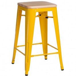 Barová židle Tolix 65, žlutá/borovice 94534 CULTY