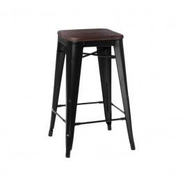 Barová židle Tolix 65, černá/ořech 94604 CULTY