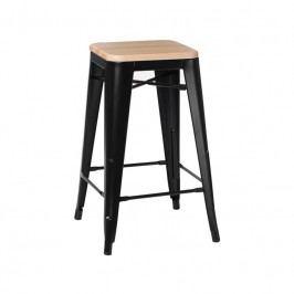 Barová židle Tolix 65, černá/borovice 94609 CULTY