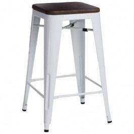 Barová židle Tolix 65, bílá/ořech 94619 CULTY