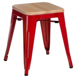 Stolička Tolix 45, červená/borovice 94699 CULTY