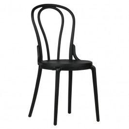 Židle Ernest, plast, černá dee:378649-Z Hoorns