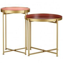 Set odkládacích stolků Marla, zlatá dee:390931-R Hoorns