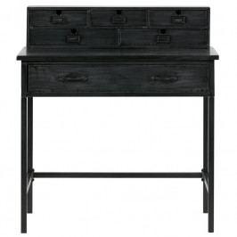 Pracovní stůl Cabinet, černá dee:800737-Z Hoorns