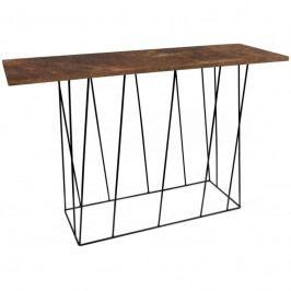 Toaletní stolek Rofus 120 cm, černá podnož, rez 9500.627002 Porto Deco