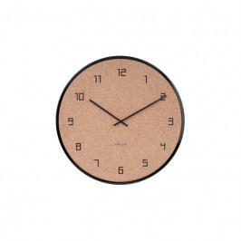Nástěnné hodiny Dex, 40 cm, černá, korek Stfh-KA5664BK Time for home+