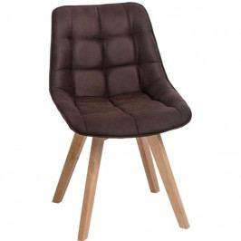 Designová židle Woody, tmavě hnědá 83551 CULTY