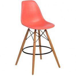Designová barová židle DSW, meruňková 84951 CULTY