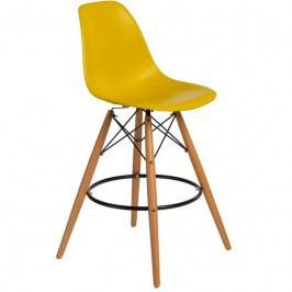 Designová barová židle DSW, limetková 85027 CULTY