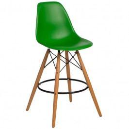 Designová barová židle DSW, tmavě zelená 84939 CULTY