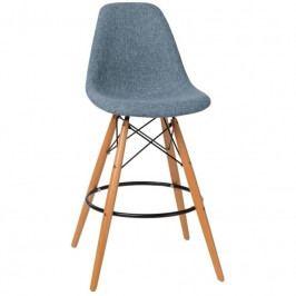Designová barová židle DSW čalouněná, modrá/šedá 85024 CULTY