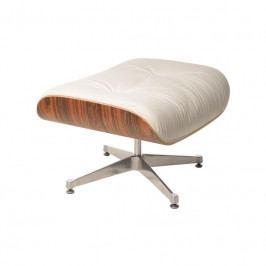 Podnožka Lounge Chair Ottoman, bílá, palisandr 42292 CULTY