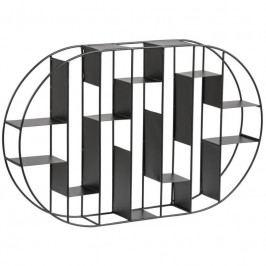 Nástěnný regál Gerald, kov, černá SCHDN0000072067S SCANDI+