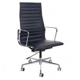 Kancelářské křeslo Soft Pad Group 119, černá kůže/chrom 25672 CULTY