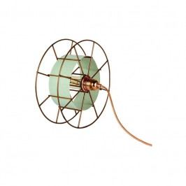 Stolní světlo Drum 30 cm, měď/zelená tf004 Odemark