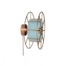 Nástěnné světlo Drum 30 cm, měď/modrá twa002 Odemark