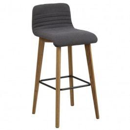 Barová židle Areta, látka, antracit SCHDN0000067195 SCANDI