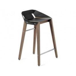 Barová židle Tabanda DIAGO, 62cm, ořechová podnož (RAL9004)  diago62orech Tabanda