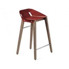 Barová židle Tabanda DIAGO, 62cm, ořechová podnož (RAL3000)  diago62orech Tabanda