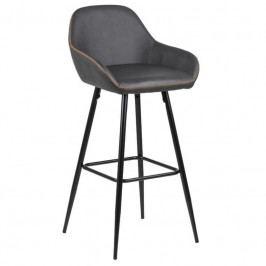 Barová židle Disca, ekokůže, šedá SCHDN0000072071 SCANDI