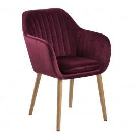 Jídelní židle  Milla s prošíváním, samet, bordová SCHDN0000071832 SCANDI