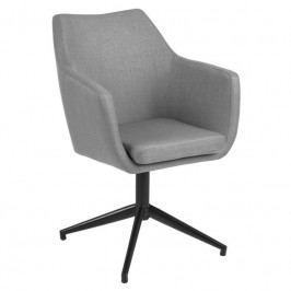 Jídelní židle Marte otočná, látka, šedá SCHDN0000068759 SCANDI